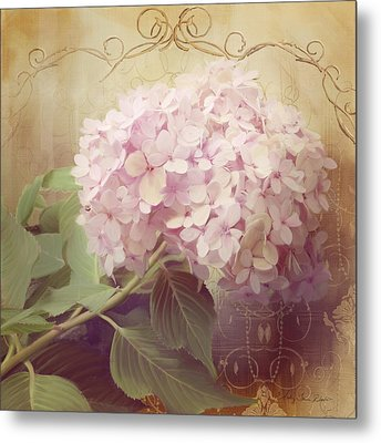 Softly Summer - Hydrangea 2 Metal Print by Audrey Jeanne Roberts