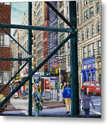 Soho Area New York Metal Print