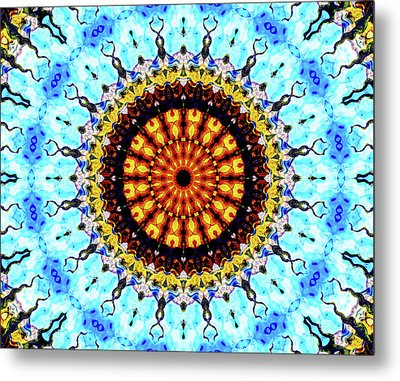 Metal Print featuring the digital art Solar Flare 1 by Wendy J St Christopher