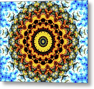 Metal Print featuring the digital art Solar Flare 2 by Wendy J St Christopher
