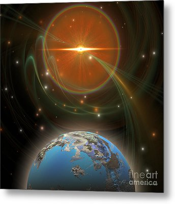 Solar Message Metal Print by Corey Ford
