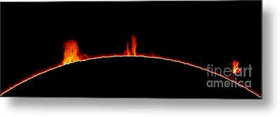 Solar Prominences Metal Print by Greg Piepol and Photo Researchers