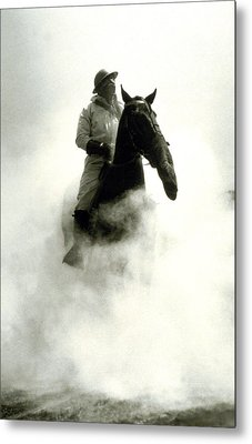 Soldier And Horse Wearing A Gas Mask During The Battle Of Verdun Metal Print by French School