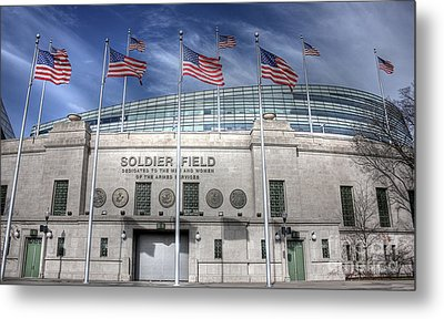 Soldier Field Metal Print
