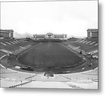 Soldier Field In Chicago Metal Print