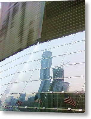 Soldier Field Reflection Metal Print