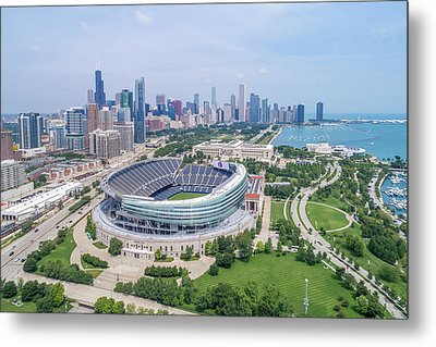 Metal Print featuring the photograph Soldier Field by Sebastian Musial