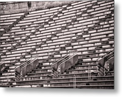 Soldier Field Stands In Sepia Metal Print by Bill Cannon