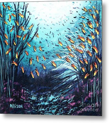Soldier Fish And Coral  Metal Print