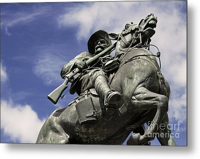 Metal Print featuring the photograph Soldier In The Boer War by Stephen Mitchell