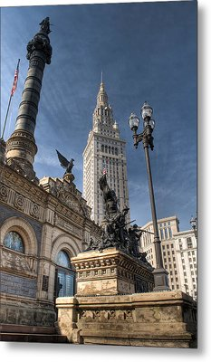 Soldiers' And Sailors' Monument Metal Print by At Lands End Photography