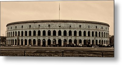 Soldiers Field At Harvard In Sepia Metal Print by Bill Cannon