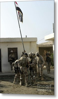 Soldiers From The Iraqi Special Forces Metal Print by Stocktrek Images