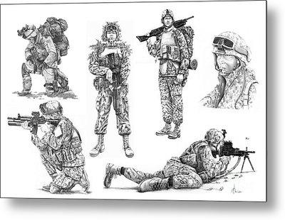 Soldiers Metal Print by Murphy Elliott