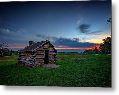 Soldier's Quarters At Valley Forge Metal Print by Rick Berk