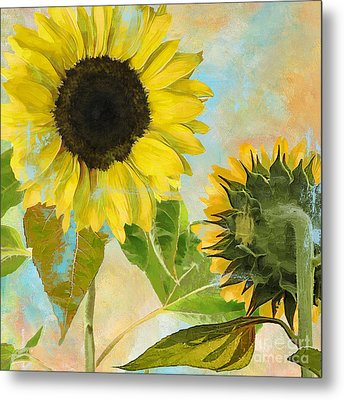 Soleil I Sunflower Metal Print by Mindy Sommers