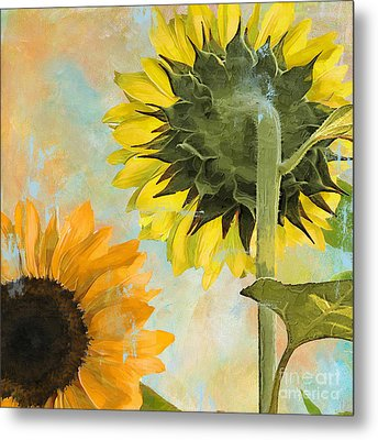 Soleil II Sunflower Metal Print by Mindy Sommers