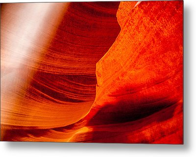 Solitary Beam Metal Print by Az Jackson
