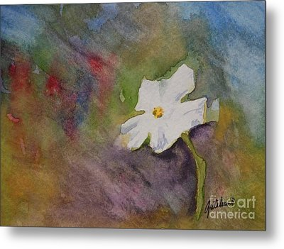 Solitary Flower Metal Print by Gretchen Bjornson