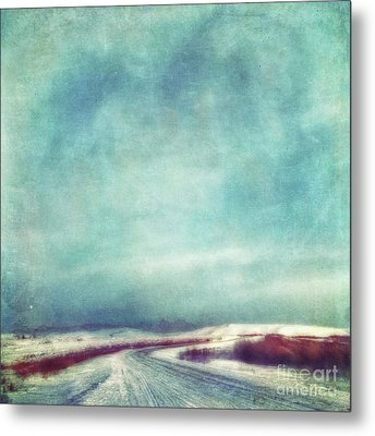 Solitary Journey Metal Print by Priska Wettstein