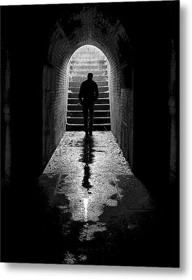 Solitude - Ascending To The Light Metal Print by Betty Denise