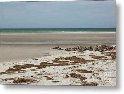 Metal Print featuring the photograph Solitude By The Seashore by Michelle Wiarda
