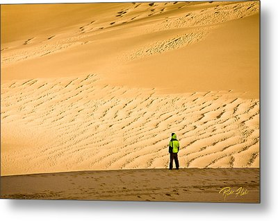 Metal Print featuring the photograph Solitude In The Dunes by Rikk Flohr