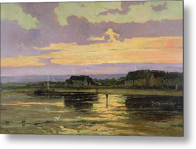 Solitude In The Evening Metal Print by Marie Joseph Leon Clavel Iwill