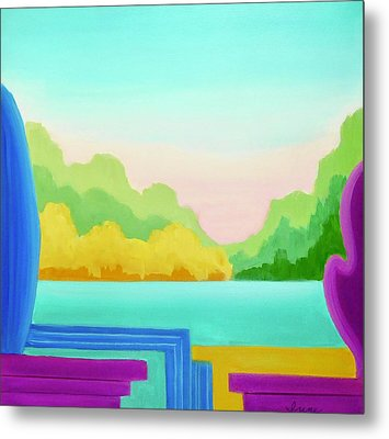 Metal Print featuring the painting Solitude by Irene Hurdle
