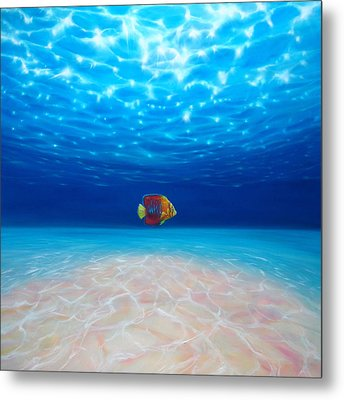 Solo Under The Sea Metal Print by Gill Bustamante