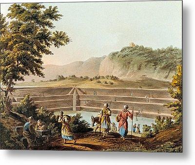 Solomon Pools In 1803 Metal Print