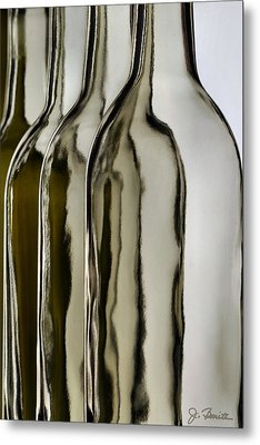 Somber Bottles Metal Print by Joe Bonita