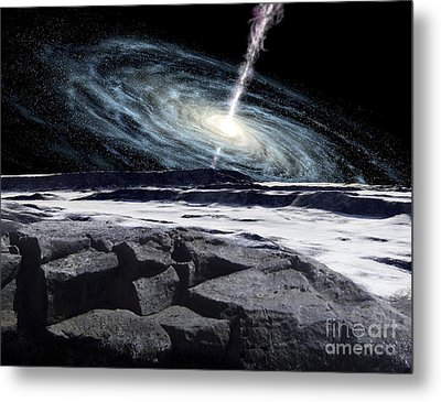 Some Galaxies Have Powerfully Active Metal Print by Ron Miller