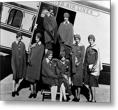 Some Of The First Stewardesses Metal Print