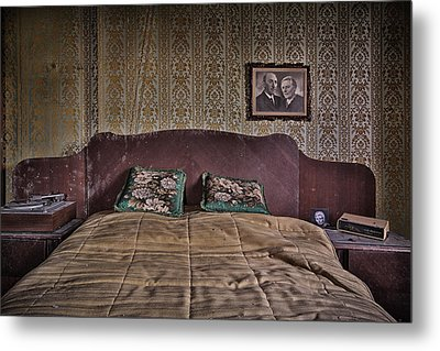 Somebody Is In Our Bedroom Taking Pictures Metal Print by Dirk Ercken