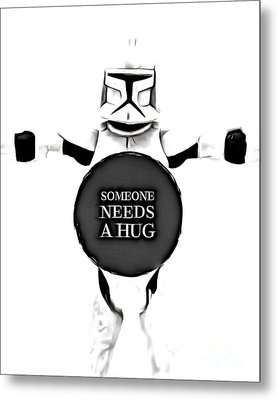 Someone Needs A Hug Metal Print by Edward Fielding