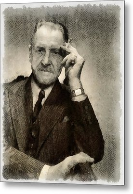 Somerset Maugham, Author Metal Print by John Springfield