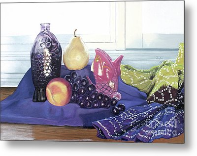 Metal Print featuring the painting Something Fishy by Cindy Lee Longhini