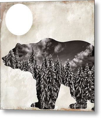 Something Wild Bear Metal Print by Mindy Sommers