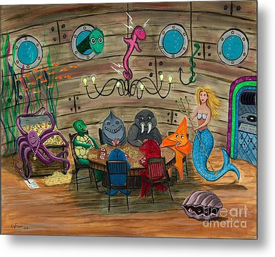 Something's Fishy Metal Print