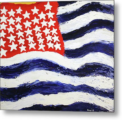 Metal Print featuring the painting Something's Wrong With America by Thomas Blood
