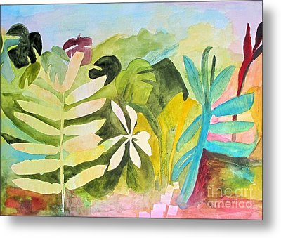 Metal Print featuring the painting Sometimes I Miss The Tropics by Sandy McIntire