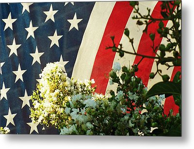 Sometimes Tattered And Battered But Always Proud And Strong Metal Print