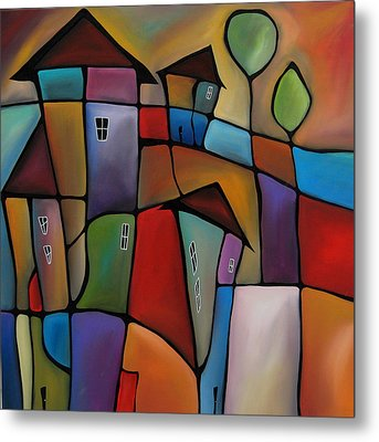 Somewhere Else - Abstract Pop Art By Fidostudio Metal Print