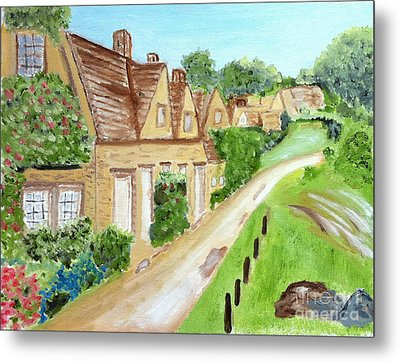 Somewhere In Cotswolds South West England Metal Print
