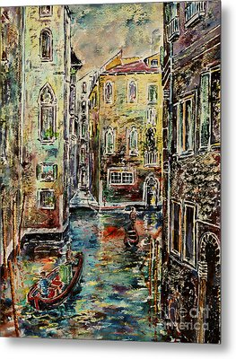 Somewhere In Venice Metal Print by Alfred Motzer