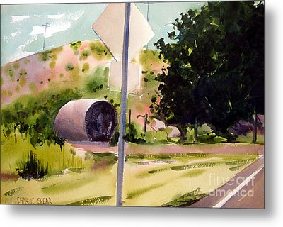 Metal Print featuring the painting Somewhere Near Fort Sill Oklahoma by Charlie Spear