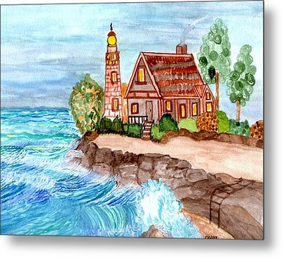 Metal Print featuring the painting Somewhere On The Edge by Connie Valasco