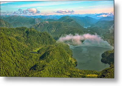 Metal Print featuring the photograph Over Alaska - June  by Madeline Ellis