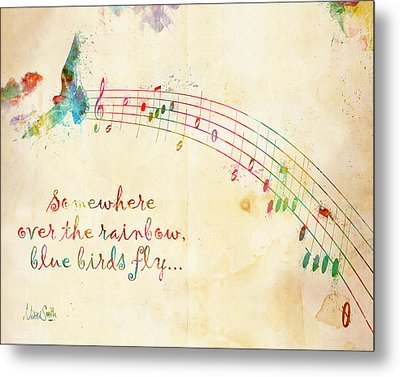 Somewhere Over The Rainbow Metal Print by Nikki Smith